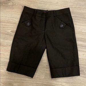 Black Wool shorts size 4 like new